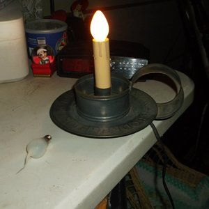 medal candle holder  electric